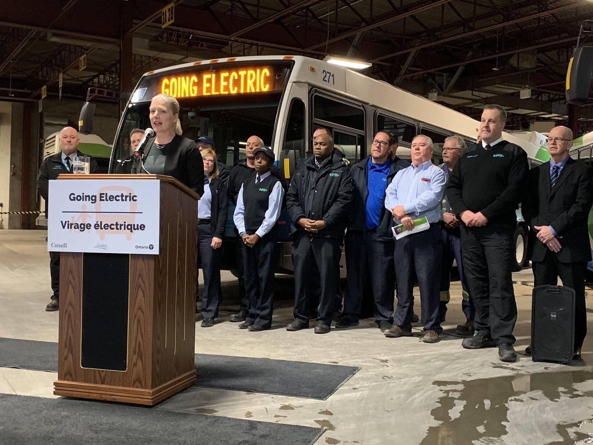 Electric Bus announcement Guelph