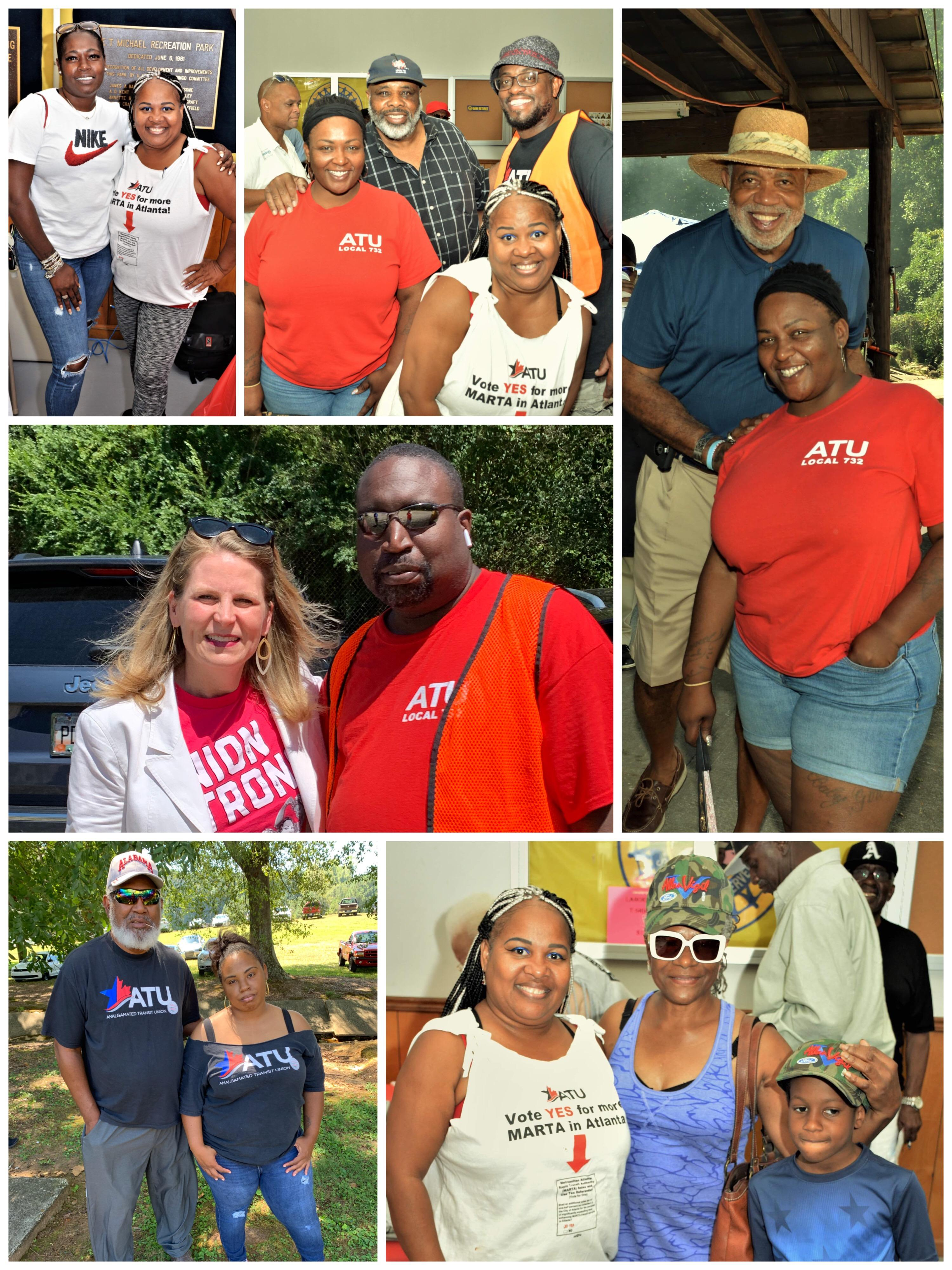 ATU Local 732 members and retirees attended the Atlanta North Georgia Labor Council 2019 Labor Day Picnic at UAW Local 882 Union Hall....