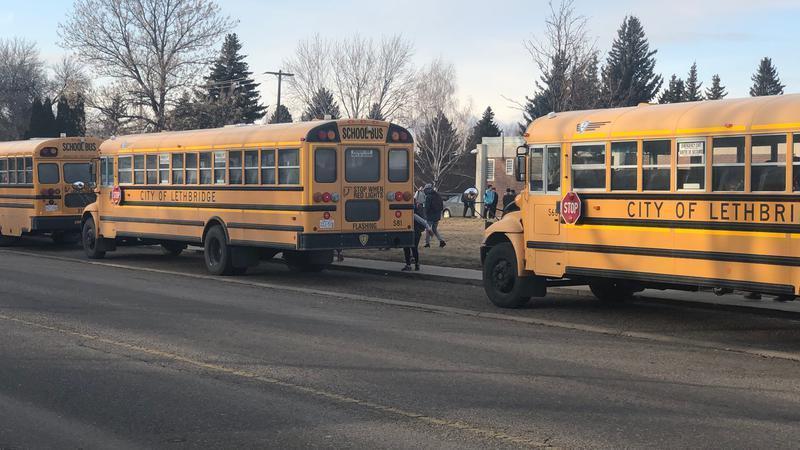 Lethbridge school bus
